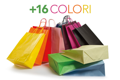 Borse Shopper in Carta Colorata