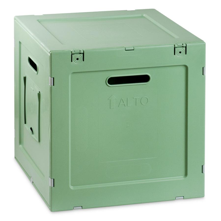Contenitore in Plastica 39,6x36,4x38,6 Verde Salvia