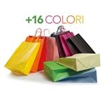 Borse di Carta Shopper Colorate Maniglie Ritorte. 54+15x49 Conf. da 10 pezzi