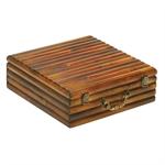 Cassette di Legno per Bottiglie Olio e Vino e da 3 posti, ART. 250 cm. 33x31x9.5 h - S3L