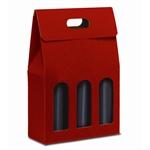 Scatole per Bottiglie da 3 posti, con Maniglia cm. 27x9x39 h ART. 161 - S3L