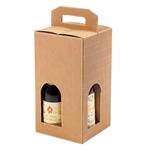 Scatole per Bottiglie da 4 posti, con Maniglia cm. 18x18x34 h ART. 173 - S3L
