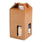 Scatole per Bottiglie da 4 posti, con Maniglia cm. 18.5x18.5x33.5 h ART. 207 - S3L