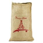 Sacchetti di Natale in Juta - Stampa Albero Natale - cm. 17x30